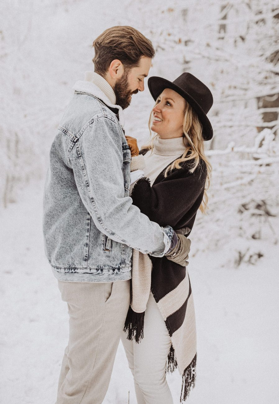 Winter Couple Session in Uetliberg Zurich Engagement Photos Switzerland Wedding photographer
